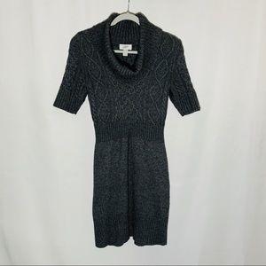 LOFT dark grey chunky knit sweater dress, size S